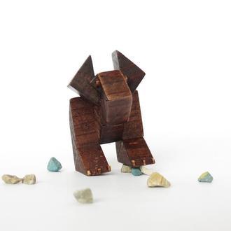 Деревянная статуэтка динозавр,Подарок,Сувенир.