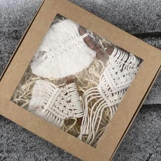 Набор мини макраме панно на палочках корицы