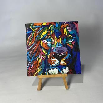 Картина акрил «Лев»