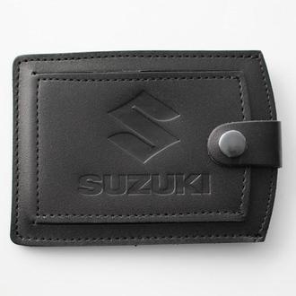 Кожаная обложка для прав Suzuki черная 5072