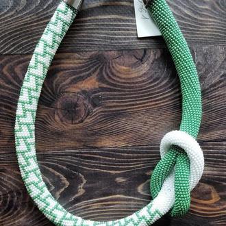 Жгут из бисера зеленый