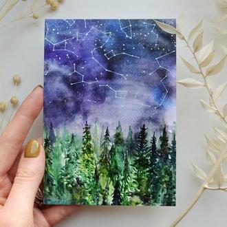 """Авторская открытка """"Созвездия"""""""