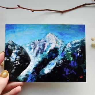 """открытка """"Горы"""""""