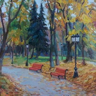 Картина маслом Осенний пейзаж купить Киев Украина