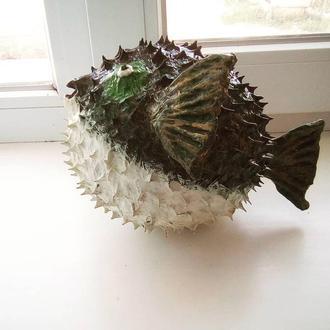 Рыба Ёж из папье-маше