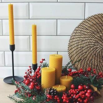 Большой набор свечей из вощины (6 шт)