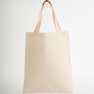 Эко сумка шоппер 35x42 см ручки 45 см Двунитка бежевая
