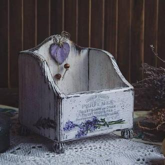 короб в стиле прованс с лавандой