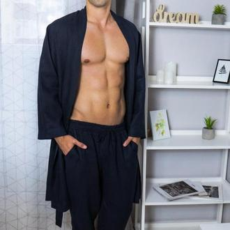 Домашній комплект одягу для чоловіків з натурального льону