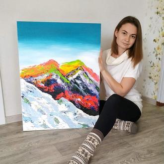 """картина """"Радужные горы"""""""