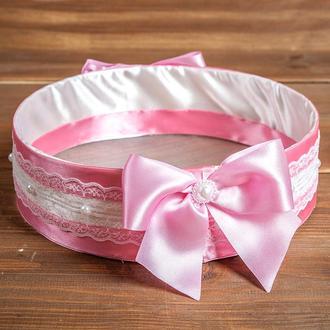 Весільне сито для осипания молодих рожеве