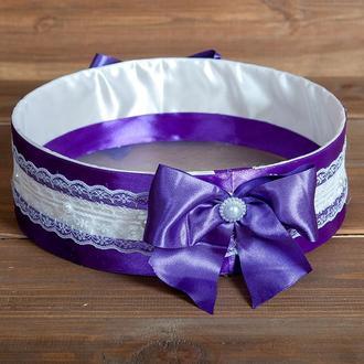 Весільне сито для осипания молодих фіолетове