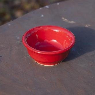 Соусник  красный 55 мл, маленькая пиала.