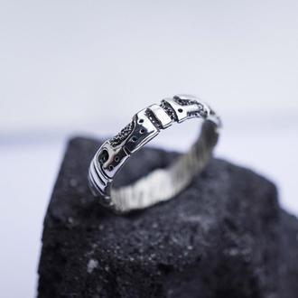 """Мужское тонкое серебряное кольцо  """"UNIT"""""""
