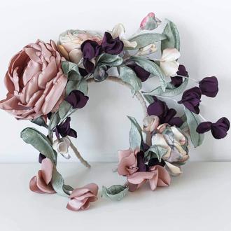 Ободок з квітами
