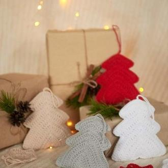Новогодний декор – набор елки и снежинки