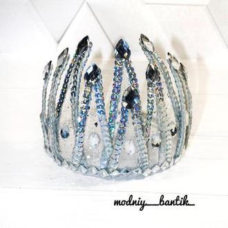 Обруч ободок диадема корона к костюму льдинка сосулька новогодний