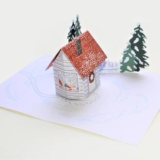 Открытка: Уютного Рождества (Рождество за городом)