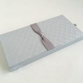 "Gift Box ""One"" цвет 2 (серебро) - открытка в коробочке"