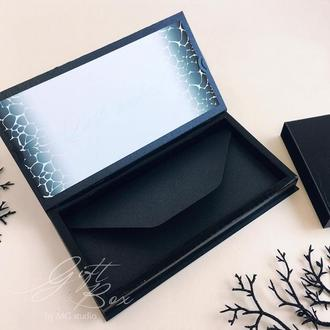 "Gift Box ""Mr."" step 1 - открытка в коробочке"
