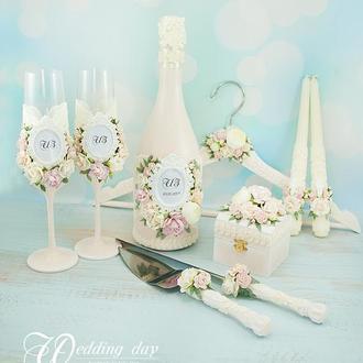 Свадебный набор розовый / Молочний набір / Персиковий весільний набір / Набор для свадьбы