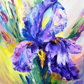 "Картина маслом ""Mysterious Flower"""