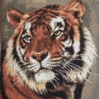 """Вышитая картина крестиком """"Тигр"""""""
