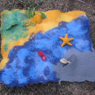 Детский развивающий коврик Море