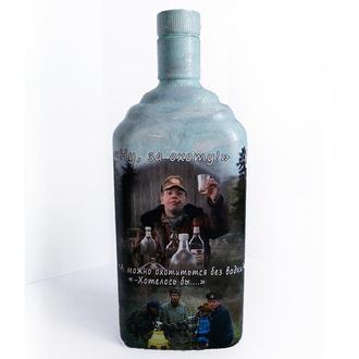 Декор бутылки ′Нууу, за охоту!′ Подарок для мужчины охотника. Ручная работа