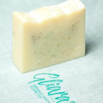 Мыло с белой глиной и эфирным маслом эвкалипта натуральное органическое ручной работы
