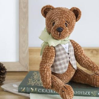 Классический медведь - интерьерная вязаная игрушка