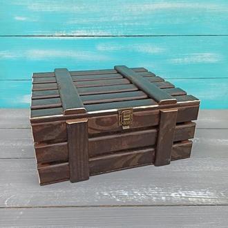 Деревянная упаковка, коробка, ящик на замке, деревянный ящик для корпоративного подарка