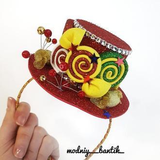 Ободок шляпка обруч конфета конфетка с конфетой конфеткой новогодний