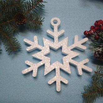Новогодний декор из пенопласта, снежинки из пенопласта, набор объемных снежинок из пенопласта