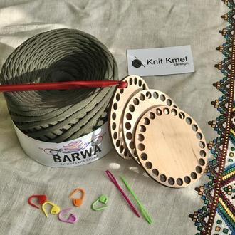 Набір для в'язання маркери донишки гачок пластикові голки трикотажна пряжа вязание крючком игла