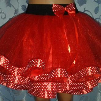 Детская фатиновая юбка на резинке, модель № 80