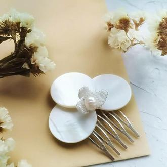 Свадебный гребень, цветочный аксессуар, гребень в прическу