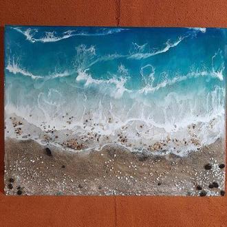 Карина пано эпоксидной смолой море волны