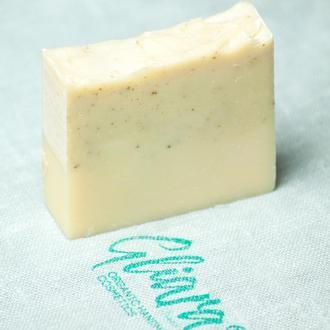 Мыло с голубой глиной и эфирным маслом перечной мяты натуральное органическое ручной работы