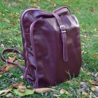 Рюкзак «Double» из натуральной кожи