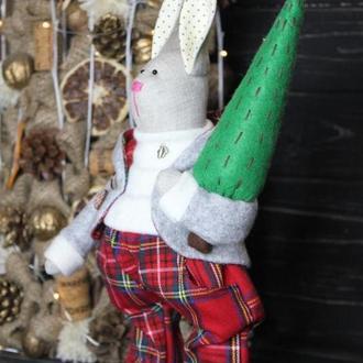 Новогодняя  игрушка Тильда-Кролик