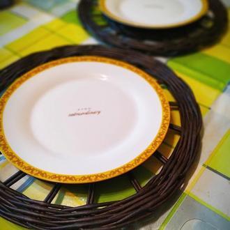 Сервировочные плетеные подставки под тарелки