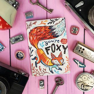 """Обложка для паспорта """"You're so foxy"""", паспортная обложка, лиса, обложка на паспорт"""