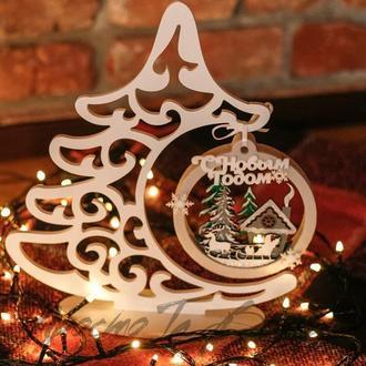 Новорічна ялинка, новорічний декор, ялинка з пвх, подарунок на Новий рік,ялинка, корпоративний подарунок