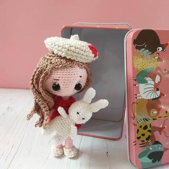 Куколка  в коробочке.  Pocket doll. Персонализированная.