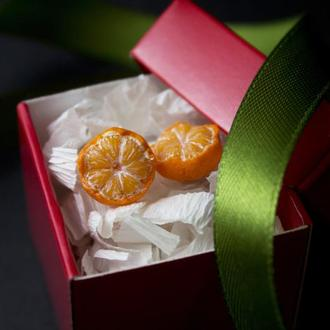 Серьги мандарины, мандаринки в шкурке, подарок к новому 2020  году