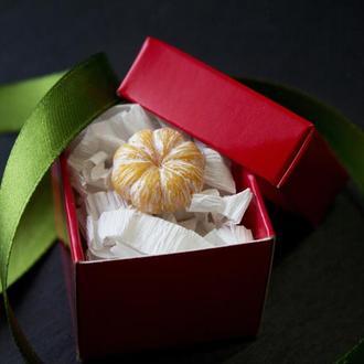 Брошь мандаринка, значок мандарин, подарок на новый год, новогодний подарок 2021