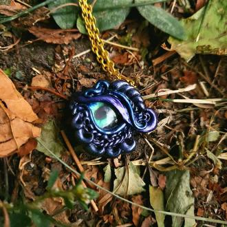 Кулон глаз дракона фэнтези аксессуар волшебный подарок на 8 марта.