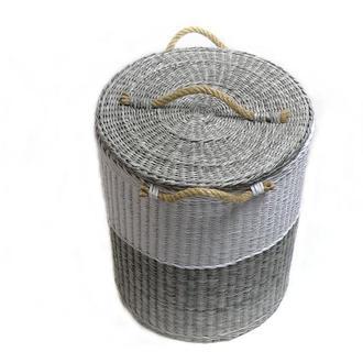 Большая плетеная корзина в скандинавском стиле