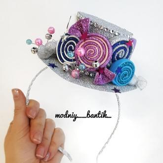 Обруч ободок шляпка конфетка конфета с конфетой конфеткой